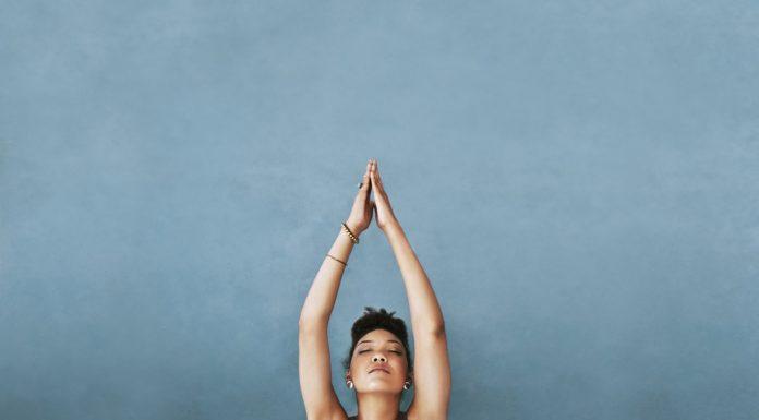 Frau Yoga-Asana